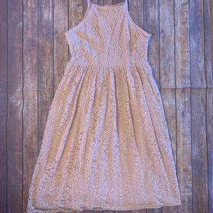 Lulus Pink Lace Dress